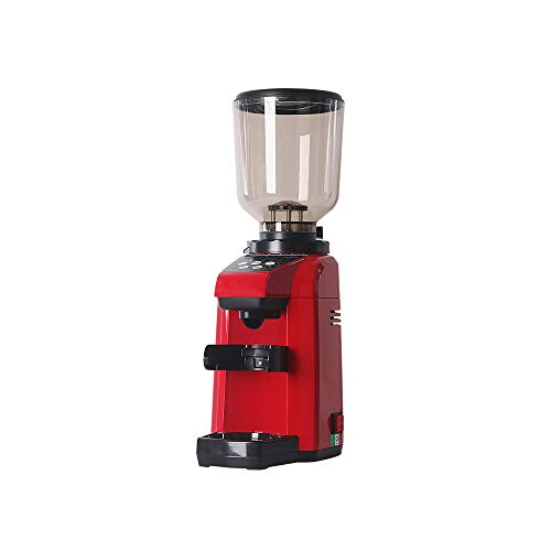 180W Electric Automatic Coffee Grinder Commercial Household Red Two Mode 500g -