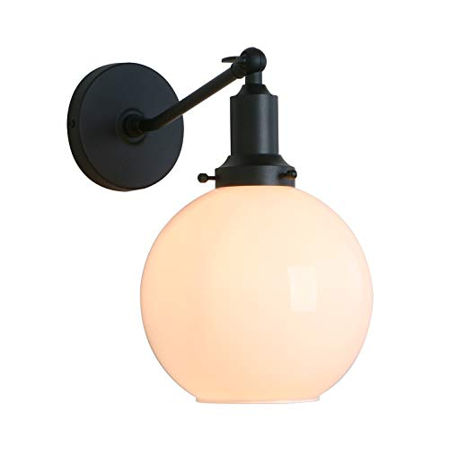 Permo Industrial Vintage Slope Pole Wall Mount Single Sconce with 7.9