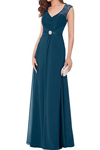 Spitze Promkleider Bodenlang Ballkleider Damen Elegant Ivydressing Partykleider Chiffon Neu Grape Inkblau UwC4qxH