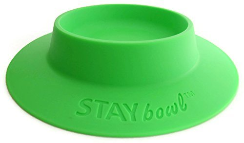 (STAYbowl Tip-Proof Bowl for Guinea Pigs and Other Small Pets - Spring Green - Large 3/4 Cup Size New)