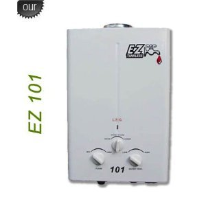 EZ 101 Tankless Water Heater - Propane LPG - Portable - Battery Powered Ignition - Camping - RV