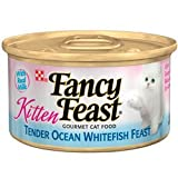 Fancy Feast Gourmet Kitten Formula Tender Ocean Whitefish Feast Canned Cat Food (24/3-oz cans), My Pet Supplies