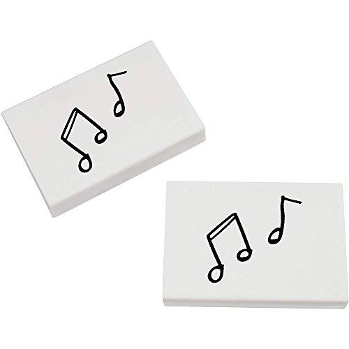 Azeeda 2 x 45mm 'Notes de Musique' gommes (ER00011645)