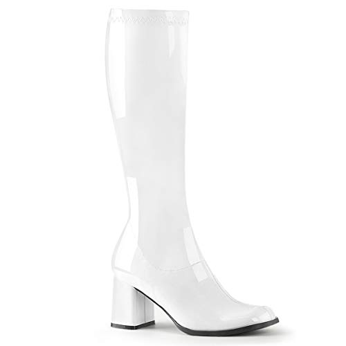 Funtasma by Pleaser Women's Gogo-300,White Patent,8 M -