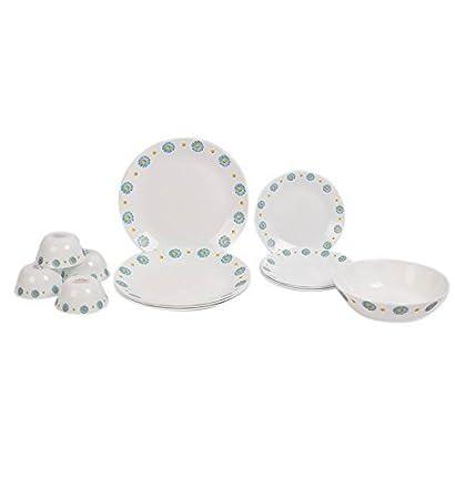 LaOpala Saphire Charm Dinner Set, 19-Pieces, Multicolour