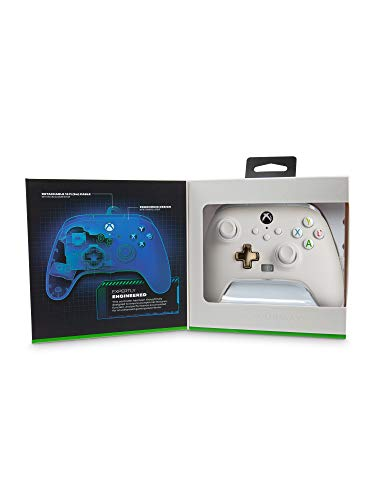 Controlador con cable PowerA mejorado para Xbox - Mist, Gamepad, controlador de videojuegos con cable, controlador de juegos, Xbox Series X | S, Xbox One - Xbox Series X