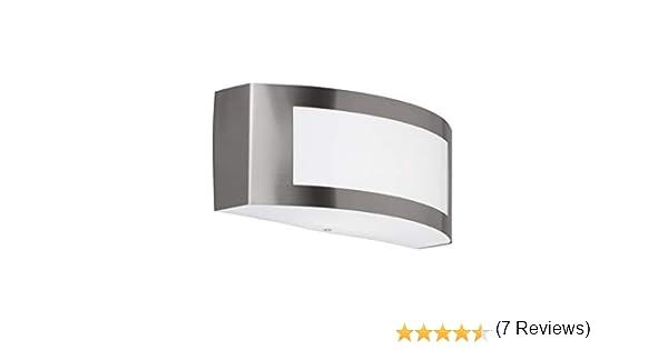 E27 9/x 25/x 10/cm acero inoxidable cepillado sin acabar Acero Wofi/ 14/W /L/ámpara de pared