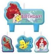 La Sirenita # 1 cumpleaños velas - juego de 4: Amazon.es: Hogar