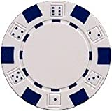 DA VINCI 50 Clay Composite Dice Striped 11.5-Gram Poker Chips (White)