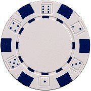 DA VINCI 50 Clay Composite Dice Striped 11.5-Gram Poker Chips (White) (Best Clay Poker Chips)