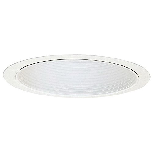 All-Pro ERT772WHTTS Trim Baffle for Compact Fluorescent Gloss White Trim Ring, Gloss White Baffle with Torsion Springs, 6""