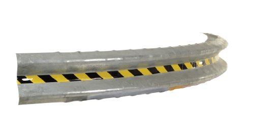 (Vestil GR-10-CRV Galvanized 90 Degree Curved Guard Rail, 120