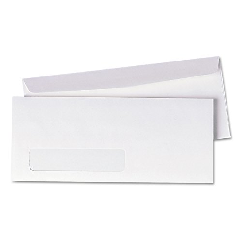 Universal 36321 Window Envelope, Size 10, 4-1/8 x 9-1/2, White, 500/Box