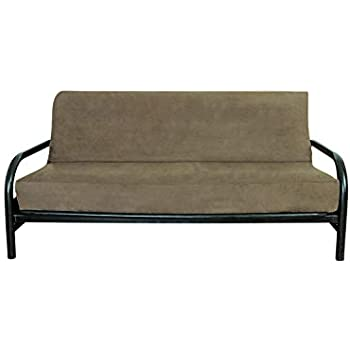 OctoRose Peat//Taupe Full Size Quality Bonded Micro Suede Futon Mattress Cover.