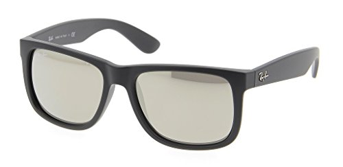 Ray Ban RB4165 622/5A 51mm Black Rubber/Gold Mirror Justin Bundle-2 Items by Ray-Ban