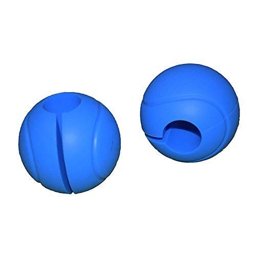 E2shop Dumbbell Grips, Barbell Grips Thick Bar Adapter Muscle Builder Weightlifting Fat Grips (Blue)