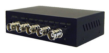 1 In 4 Out Composite BNC Video Splitter – Rack Mount Ready