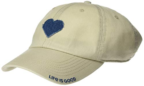 Life is Good Unisex Tattered Chill Cap Baseball Hat, Bone, OS