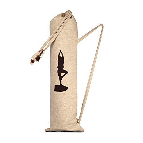Aakrutii Eco Friendly (Vrikshasana) Tree Pose Cotton Yoga Mat Bag/Exercise Mat Cover(Natural Biege) Price & Reviews