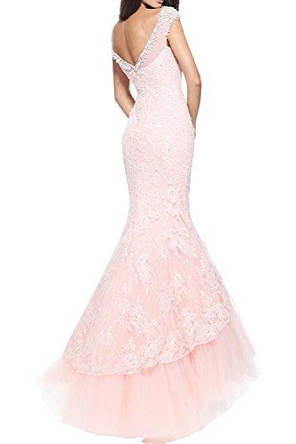 Abendkleider Partykleider Marie Ballkleider Meerjungfrau Damen Mode La Lang Braut Elegant Rosa qnAPww0X1