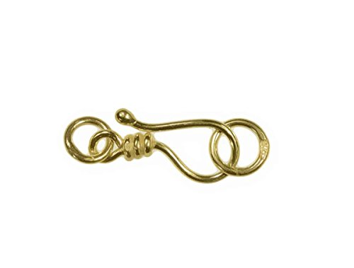 uGems Hook and Eye Clasp Twist Style Gold Plated Sterling 14.7mm Medium (3)