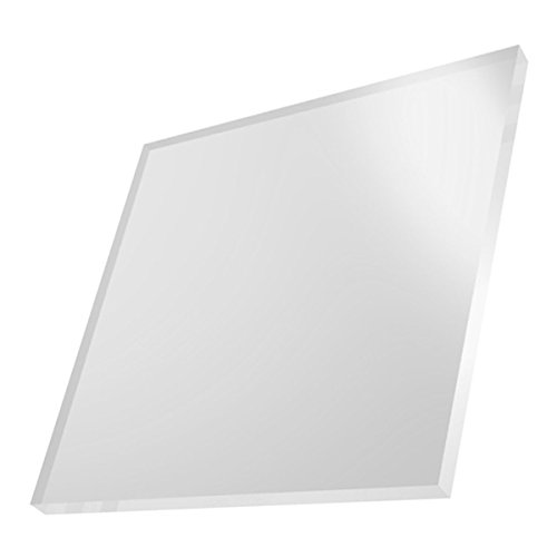 """Cast Acrylic Sheet - 24"""" x 24"""" - White - 3mm Thick - Used in Art Installations, Models, Display & Signage, Windows, Aquariums, Trophies, Picture Frames, Furniture - Lightweight & Easy to Fabricate"""
