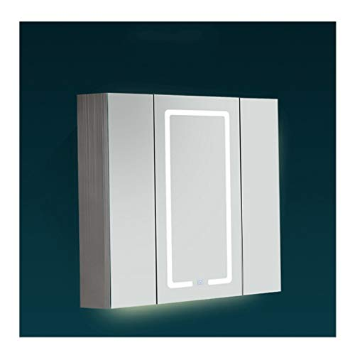 RKRZLB Modern Illuminated Bathroom Mirror Cabinet,Mirrored Cabinet Wall, Cabinet Wall Mirrored Cabinet -