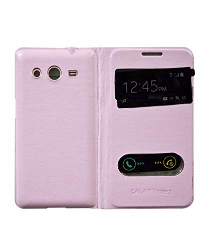 covernew flip cover for samsung galaxy core 2   baby pink Pink