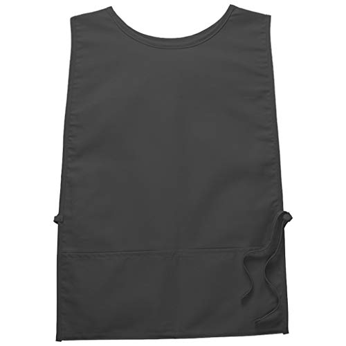 Housekeeping Smock (DayStar Apparel 440 Two Pocket Squared Cobbler w/Rounded Neck, Charcoal, Regular)