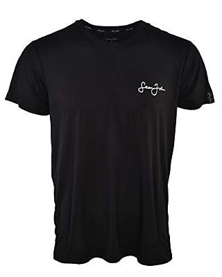 Sean John Mens Lounge Shirt - Super Soft Jersey V-Neck T Shirt Spandex/Polyester Blend Sleep Pajama