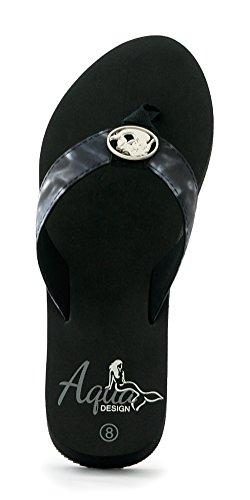 Flop Negro Aqua Black mujer Sandal Water Flip diseño Marina SrYIUq