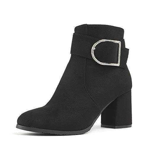 DREAM PAIRS Women's Emmy Black High Heel Ankle Bootie Size 6