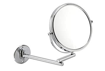 10x Magnification Wall Mounted Extendable Mirror In Chrome