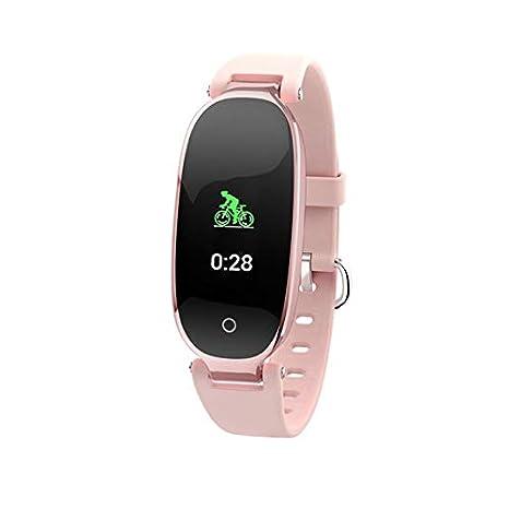 htfrgeds Fitness Pulsera Reloj Smartwatch con Podómetro IP67 ...