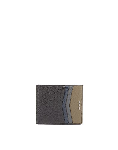 Fendi Men's 7M0169SHYF07A9 Black Leather Wallet