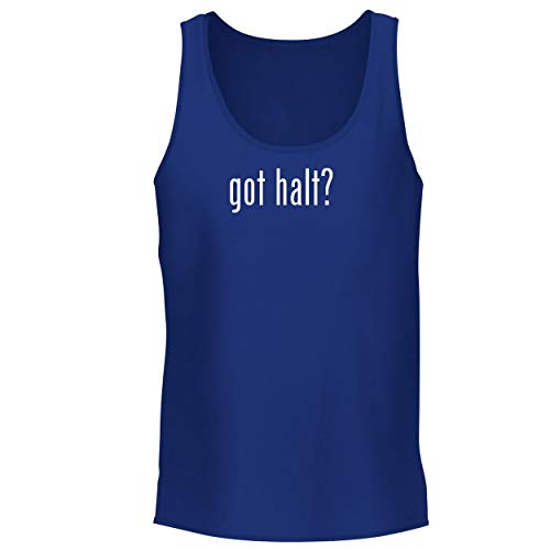 (BH Cool Designs got halt? - Men's Graphic Tank Top, Blue, Small)