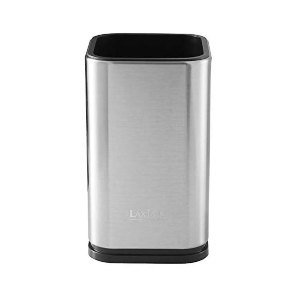 """Stainless Steel Kitchen Utensil Holder, Kitchen Caddy, Utensil Organizer, Modern Rectangular Design, 6.7"""" by 4… 3"""