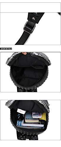 mochila mujeres computadora alta de 35L de la de Gold serpiente de FZHLY mochila realista remaches portátil Hombres PU viaje 20 y calidad patrón 3D bolsa xgntEwz