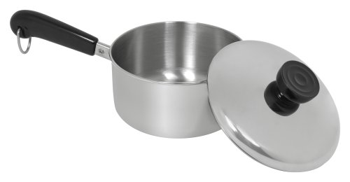 - Revere Try-Ply Bottom 1-Quart Saucepan with Lid, Stainless Steel