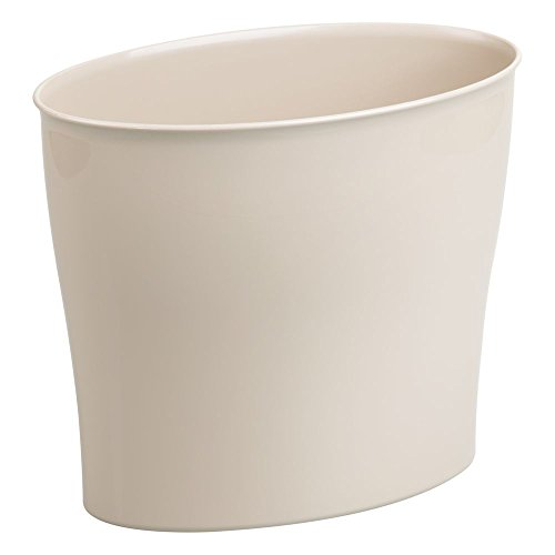 - InterDesign Wastebasket Trash Bathroom, Bedroom or Office - Taupe Nuvo Waste Can,