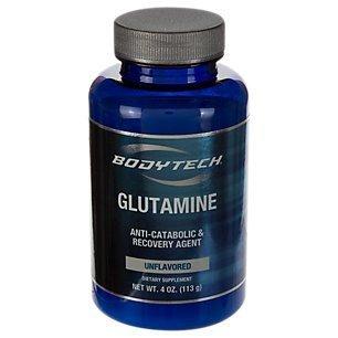 BodyTech Glutamine (Freeform Amino Acid) 4500 MG AntiCatabolic Recovery Agent, Unflavored (4 Ounce Powder)