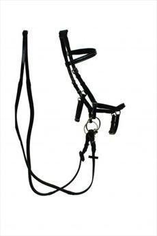 Rambo Micklem Competition Bridle with Reins-Small Horse Cob Black