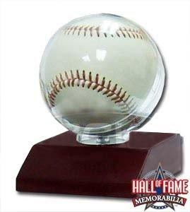 Amazon.com   Baseball Holder Display Case with Real Walnut Wood Base ... 2e32cd726e5d