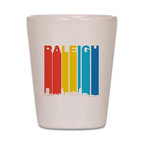 CafePress Retro Raleigh North Carolina Skyline Shot Glass, Unique and Funny Shot -