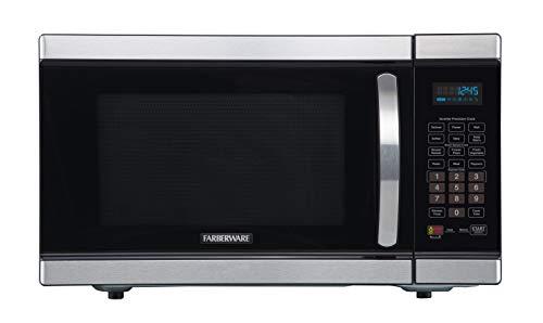 Farberware Gourmet FMO11AHTBKJ 1.1 Cu. Ft 1100-Watt Microwave Oven with Smart Sensor and Inverter Technology, ECO Mode and LED Lighting, Stainless Steel ()