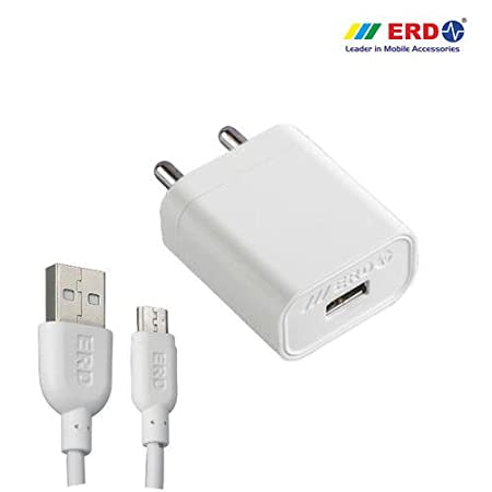 ERD TC-27B CHARGER-WHITE 2AMP(Without USB Cable) USB Cables at amazon