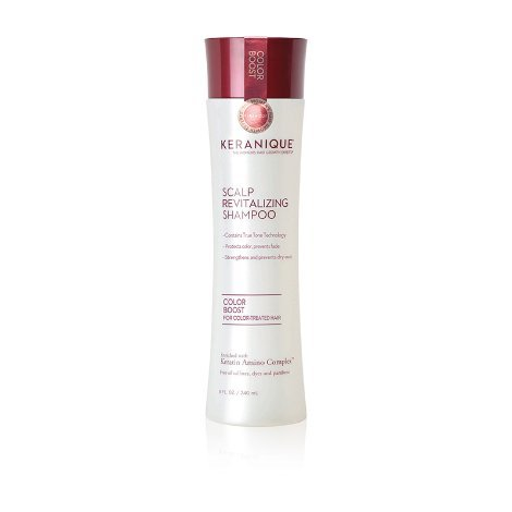 Keranique Color Boost Scalp Revitalizing Keratin Shampoo for Color Treated Hair | Keratin Hair Treatment | Keratin Amino Complex, Free of Sulfates, Dyes and Parabens (Best Over The Counter Shampoo And Conditioner For Colored Hair)