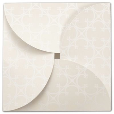 Quatrefoil Gift Card Folders, 6 x 6'' (100 Boxes) - BOWS-503-GCF-QUATR by BAG123