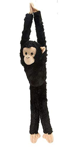 Monkey Teddy Bear (Wild Republic Chimpanzee Plush, Monkey Stuffed Animal, Plush Toy, Gifts for Kids, Hanging 20)