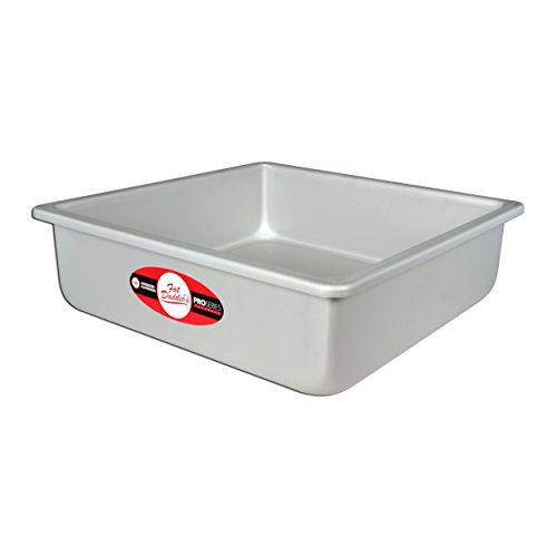 Fat Daddios Anodized Aluminum Square Cake Pan, 6 Inch x 6 Inch x 3 Inch